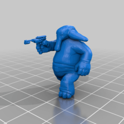 ortolan_with_pistol.png Download free STL file Max Rebo (star wars legion scale) • 3D printing template, McAnultyMiniatures