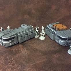 paintedITT.jpg Download free STL file Imperial Troop Transport (Star Wars Legion scale) • 3D printer design, McAnultyMiniatures