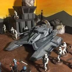 Download free STL file TX 130s Imperial Tank (Star Wars Legion scale) • 3D printer design, McAnultyMiniatures