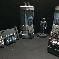 Download free 3D printer designs Bacta and Medpacs (star wars legion scale), McAnultyMiniatures