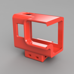GoPro_Hero7_Flächenmount_mit_Monitor.PNG Download free STL file Several Gopro Hero7 mounts for wing with and without visible screen • 3D print design, sidi7777777