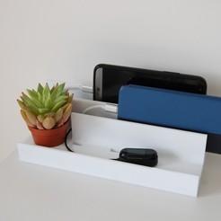 DSC_0017.JPG Download STL file Smartphone/multiple watch charging cradle • 3D print design, Aldrick
