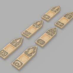 Wound Marker v4.png Download free STL file Warhammer Wound Marker for Eldar • 3D print template, OsseousMelodies