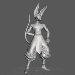 1.png Download free STL file Beerus 3D Model • Template to 3D print, lmhoangptit