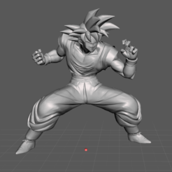 2.png Download STL file Goku 3D Model • 3D printer design, lmhoangptit