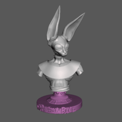 1.png Download free STL file Beerus Bust Model • Design to 3D print, lmhoangptit