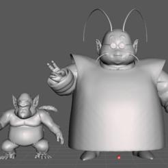 3.png Download STL file King Kai + Bubbles (Dragon Ball) 3D Model • Object to 3D print, lmhoangptit