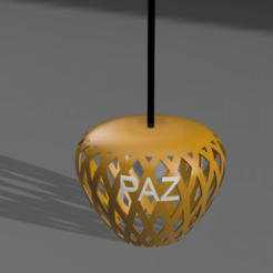 Lampara 001 v3.png Download free STL file Ceiling lamp • 3D printing object, leandro_ch