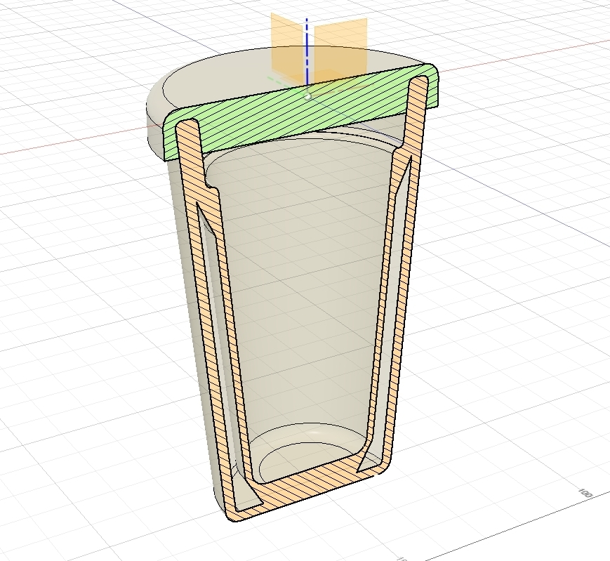 Vaso_Termico_corte.jpg Download free STL file Thermal Glass (Fernet/Beer) • Design to 3D print, leandro_ch