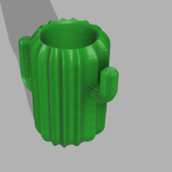 vasofinal v3.png Download STL file Cactus pen • 3D printer design, jontivero93