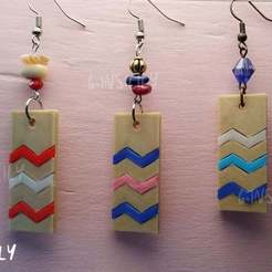IMG_20190908_174723.jpg Download free STL file Earrings ZigZag colorful • Design to 3D print, GinSicily