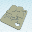 Download free 3D model Father's Day Keychain, GinSicily