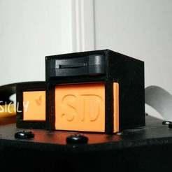 front.jpg Descargar archivo STL gratis Micro SD Extender con caja pequeña • Diseño para impresión en 3D, GinSicily