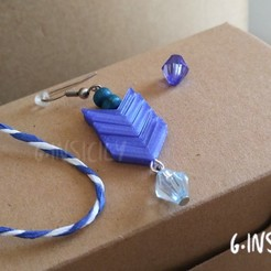 Download free 3D printing designs Earring Precious Arrow, GinSicily