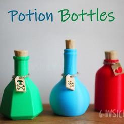 Télécharger fichier STL Bouteilles de potion • Plan imprimable en 3D, GinSicily