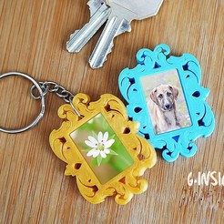 Download free 3D printer model Keychain Baroque photoframe , GinSicily