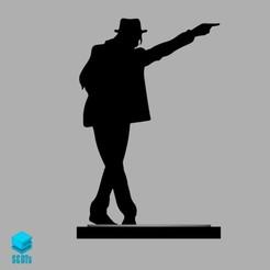 render.jpg Télécharger fichier OBJ Jeton de plateau de jeu Michael Jackson • Objet imprimable en 3D, s3dts
