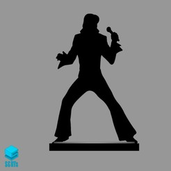 Descargar modelo 3D Elvis Presley game board token, s3dts