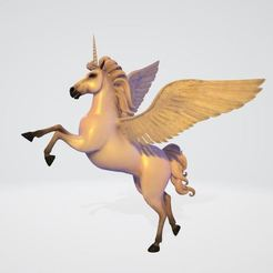Licorne.JPG Download free STL file Unicorn • Template to 3D print, Stephtvt