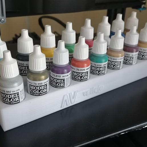 Télécharger plan imprimante 3D Support 16 pots de peinture VALLEJO, Stephtvt
