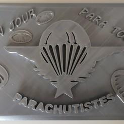 Télécharger objet 3D Plaque parachutiste, Stephtvt