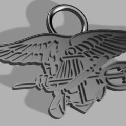 Porte clés Navy Seals.JPG Télécharger fichier STL gratuit Navy Seals porte clés • Objet imprimable en 3D, Stephtvt