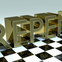 Download 3D printer model Repentance text, jossyroj