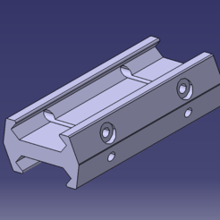 Download free 3D printer designs female / female picatinny rail adapter, JOUJNIX