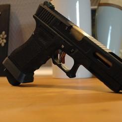 Descargar STL Extensión del cargador de la Glock (placa base), tarzan58