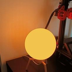 lampe.jpg Télécharger fichier STL Lampe Fusée Globe • Design à imprimer en 3D, Huna3dprint