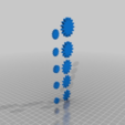 "Download free OBJ file Gears, ""There are many like them but these are in pairs"" • 3D printing template, 3bdezign"