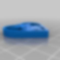 Imprimir en 3D gratis enfermera en el llavero del corazón, 3bdezign