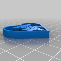 Download free STL file nurse in heart keychain • Model to 3D print, 3bdezign