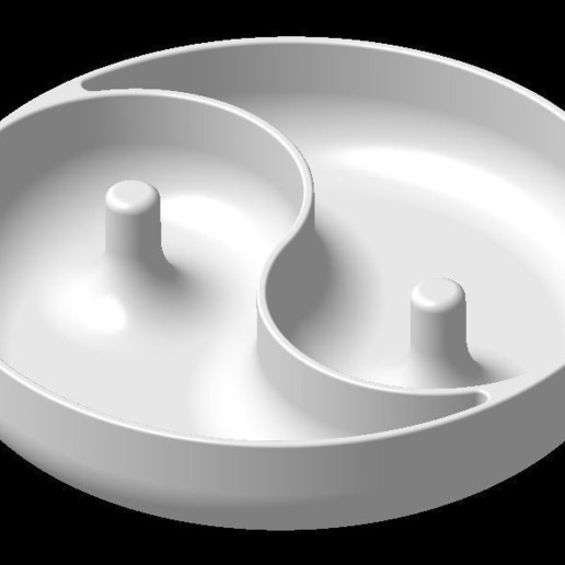 Download 3D printer designs YIN YANG DISH, 3DJVC