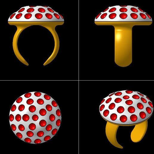 Download 3D printing templates GOLF MUSHROOM RING, 3DJVC