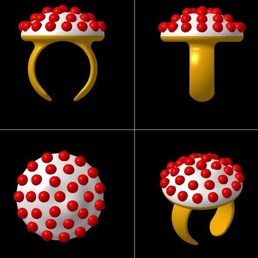 Download 3D printer model RING BALLS, 3DJVC