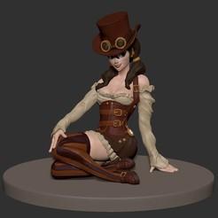 Descargar diseños 3D Modelo de impresión en 3D de la chica de Steampunk Pinup, derekpinups
