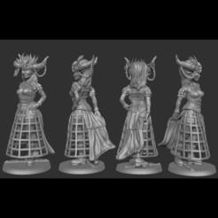 Download free 3D printer templates Gothic Steampunk Girl Pinup (FREE), derekpinups