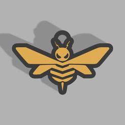 Llavero Bumblebee.jpg Télécharger fichier STL Porte-clés Bourdon • Objet imprimable en 3D, Elperroverde