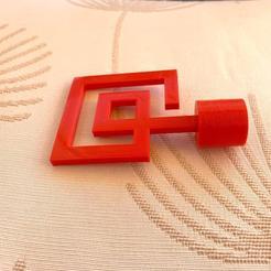 Tope de cortina 1.jpeg Download STL file Spiral Curtain Stop • 3D printer template, labramakers
