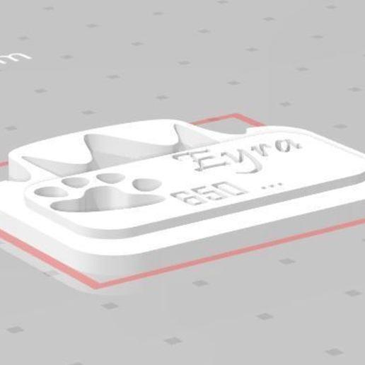 Captura 1.JPG Télécharger fichier STL gratuit Plaque d'identité personnalisée (Plaque d'identité personnalisée) • Objet à imprimer en 3D, marumar