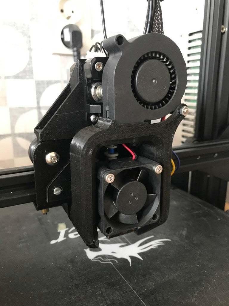 IMG_3167.jpg Télécharger fichier STL gratuit Base BantaMount pour SpeedDrive v1 - Support à entraînement direct Ender 3 • Design à imprimer en 3D, fakcior