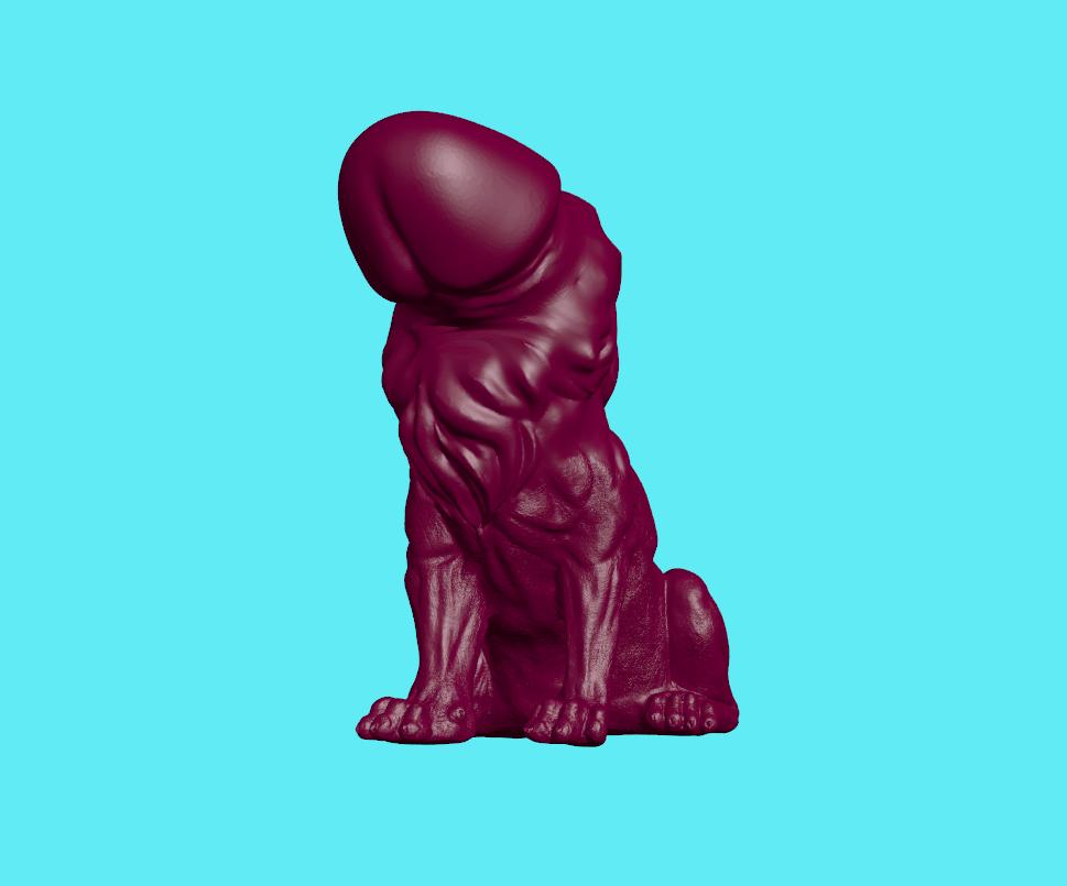 1.png Download STL file Lion Cock • 3D printable object, ManelRos