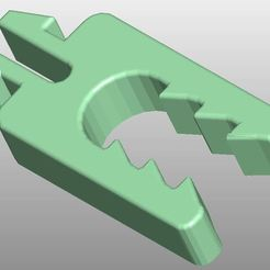 "Download free STL file Visor ""Cap"" clips for 5mm thickness • Model to 3D print, CADin3D"