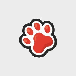 "PuppyVol1_PawPrint_Main copy.jpg Download STL file Paw Print Cookie Cutter 3"" .STL File • Model to 3D print, Everyoul"
