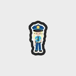 PoliceKidsVol1_PoliceGirl_Main copy.jpg Télécharger fichier STL Fichier .STL de l'emporte-pièce pour les filles de la police • Design à imprimer en 3D, Everyoul
