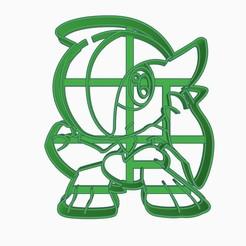 Gallade1.jpg Download STL file Gallade Cookie Cutter Pokemon Anime Chibi • 3D printable template, Negaren
