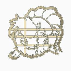 Download 3D printer files Ninetales Cookie Cutter Pokemon Anime Chibi, Negaren