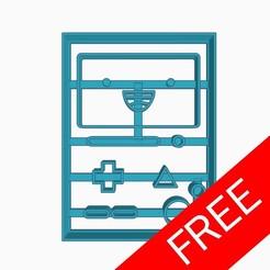 freestuff.jpg Télécharger fichier STL gratuit Coupe-biscuits BMO Adventure Time Free Cookie Cutter • Objet pour imprimante 3D, Negaren