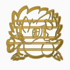 Sandslashsubir.jpg Descargar archivo STL Sandslash Cookie Cutter Pokemon Anime Chibi  • Diseño para impresión en 3D, Negaren